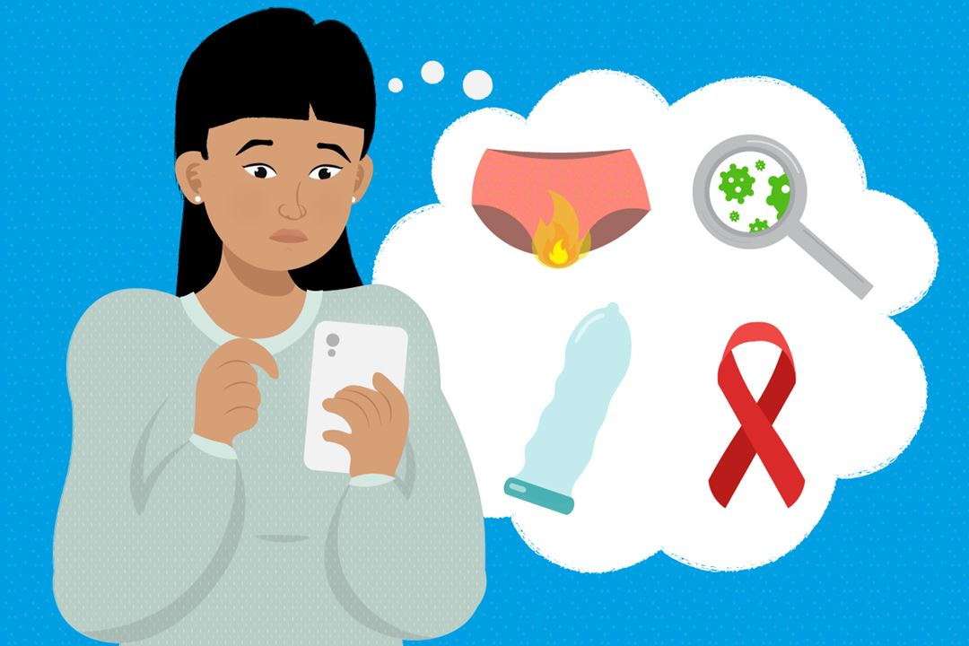 Woman worried about STIs